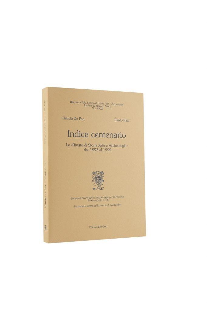 Libro Indice Centenario - Bookshop - Palazzo del Governatore - Palatium Vetus - Fondazione CRA Alessandria